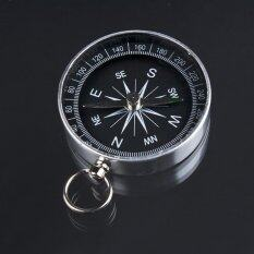 พวงกุญแจแบบพกพาเข็มทิศอลูมิเนียมโลหะเข็มทิศ - นานาชาติ.