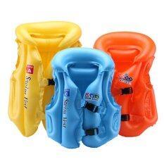 ราคา Kids Swimsuit Split Inflatable Swimming Ring Vest Children Swimming Beginners Equipment S Color Random 20Kg Below Intl เป็นต้นฉบับ