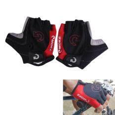 ขาย กีฬาจักรยานถุงมือนิ้วครึ่งสีแดง Intl Unbranded Generic ถูก