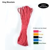ราคา King Mountain Paracord 550 Parachute Cord Lanyard Rope Mil Spec Type Iii 9 Strand 100Ft Climbing Camping Survival Equipment Intl King Mountain ออนไลน์