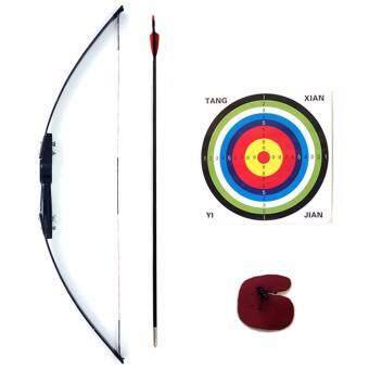 Kinglion Sport ชุดธนูฝึกหัดสำหรับผู้ใหญ่ขนาด 120 ซม. แรงดึง 40 ปอนด์ อุปกรณ์ยิงธนูครบชุด คันธนูไฟเบอร์กลาส+ลูกธนู+เป้ายิงธนู+finger tab Archery Recurve BowArrow Combo Set