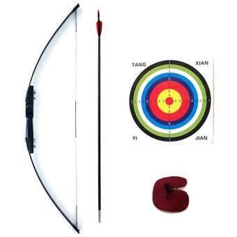 Kinglion Sport ชุดธนูฝึกหัดสำหรับผู้ใหญ่ขนาด 120 ซม. อุปกรณ์ยิงธนูครบชุด แรงดึง 40 ปอนด์ คันธนูไฟเบอร์กลาส+ลูกธนู+เป้ายิงธนู+finger tab Archery Recurve BowArrow Combo Set