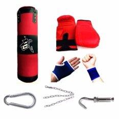 ราคา Kinglion Sport 80Cm ชุดกระสอบทรายแขวน แบ็คชก ที่รัดมือ ที่รัดข้อมือ กระสอบทรายผ้าใบพร้อมโซ่และตะขอเกี่ยว กระสอบทรายซ้อมมวย กระสอบทรายชกมวยพร้อมนวม Boxing Punch Bag Heavy Bag ราคาถูกที่สุด