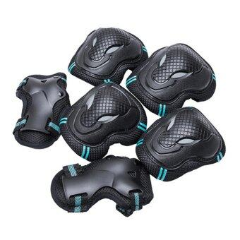 Kit 3 Pair Safety Protective Guard Pads Elbow Knee Palmguard Pads for Cycling Roller Sports Skating Blading Riding Blue - intl