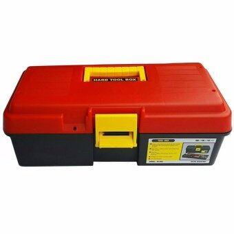 กล่องใส่เครื่องมือ ลังเครื่องมือ กล่องใส่อุปกรณ์ตกปลา พลาสติก14นิ้ว ALLWAYS สีแดง