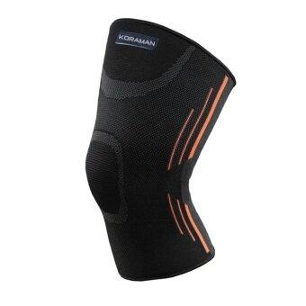 KORAMAN Breathable Shockproof Running Cycling Elastic Mountaineering Knee Pad black L - intl