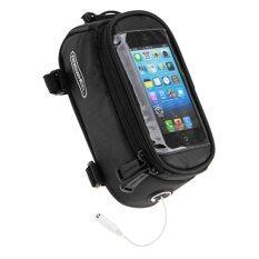 ราคา Roswheel สากลเสื้อกระเป๋าอานม้าหลอดหน้าจอสัมผัสกับหูฟังหลุมสำหรับโทรศัพท์มือถือ สีดำ L ใหม่