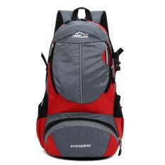 ขาย กระเป๋าเป้สะพายหลังไนลอนวินเทจกลางแจ้งเดินป่า สีแดง Intl ใหม่