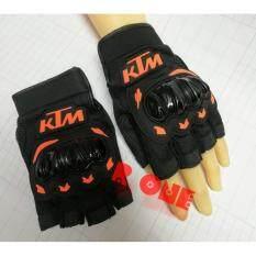 ส่วนลด ถุงมือขับรถบิ๊กไบค์ครึ่งนิ้ว Ktm Ktm