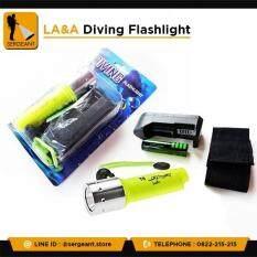 ถ กจร ง ไฟฉายดำน ำ la a diving flashlight led cree xml t6