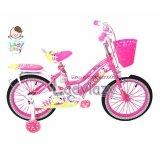 ขาย ซื้อ ออนไลน์ Ladylazyจักรยานเด็กลายวัวน้อยน่ารัก 16 No Fa210 สีชมพู