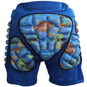 Lan Yu Kids Boys Girls 3D Protection Hip EVA Paded Short Pants Protective Gear Guard Pad Ski Skiing Skating Snowboard Blue M Hign Quality - intl