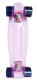 ส่วนลด Langli เพนนี สเก็ตบอร์ด สีชมพูล้อม่วงใส 22 นิ้ว แถมฟรี ลูกปืนสำรองและอุปกรณ์ Penny Skateboard รุ่น Charm Powder