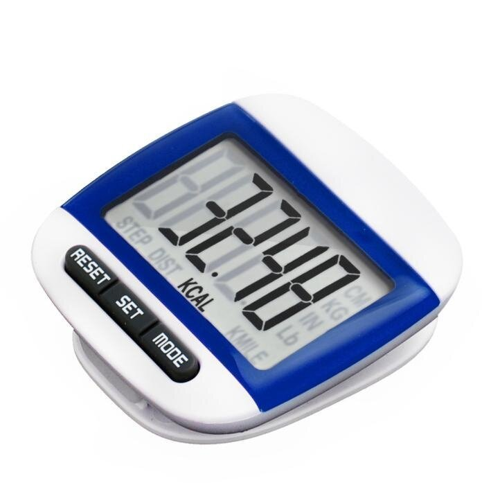 LCD Digital Step Pedometer Walking Calorie Counter Distance Run Belt Clip New - intl