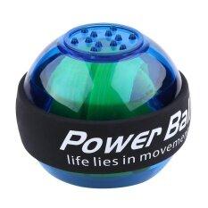 ราคา Led Exercise Hand Wrist Gyroscope Power Ball For Golf Tennis Force Strength Blue Intl Unbranded Generic จีน