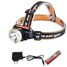 ส่วนลด ไฟฉาย Led คาดหัว ไฟ Led ติดหัว High Power Zoom Headlamp ขอบทอง Unbranded Generic