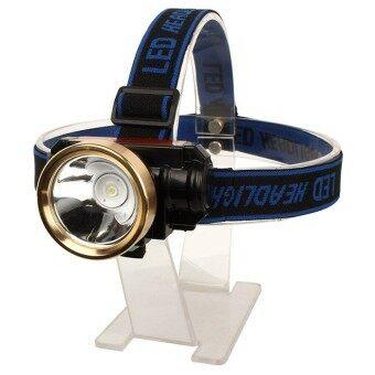 โปรโมชั่น ไฟฉาย Led คาดหัว ไฟ Led ติดหัว High Power Zoom Headlamp ขอบทอง ถูก