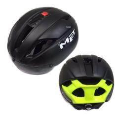 โปรโมชั่น Lee Bicycle 2017 แบบใหม่ หมวกจักรยาน รุ่น Met ดำเงา)Size:m L 54 61Cm Leebicycle