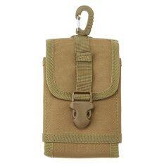 Leegoal 5 5 Inch Outdoor Nylon Utility Phone Belt Clip On Holster Holder Tactical Cell Phone Waist Pack Pouch Khaki Intl Leegoal ถูก ใน จีน