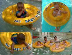 Leegoal Dual Air Style Inflatable Swim Seat Ring Swim Float For Babies Kids, Yellow - Intl.