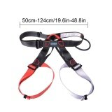 ราคา Leegoal Half Body Climbing Harness Adjustable Safety Gear Equipment For Mountaineering Fire Rescue Higher Level Caving Rock Climbing Rappelling Red Grey Intl ใหม่