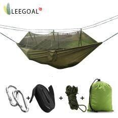 ซื้อ Leegoal ผ้ากันเปื้อนคนเดียวผ้าเบรคผ้าแรงสูงแบบพกพาที่มีมุ้งกันยุงสำหรับทริปท่องเที่ยวกลางแจ้งสีเขียว