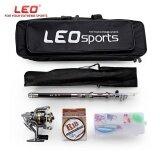โปรโมชั่น Leo Outdoor Fishing Spinning Reel Rod Kit Set With Fish Line Lures Hooks Bag 1 5M Intl ใน จีน