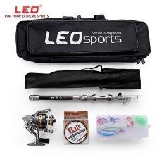 ขาย Leo Outdoor Fishing Spinning Reel Rod Kit Set With Fish Line Lures Hooks Bag 1 5M Intl ถูก จีน