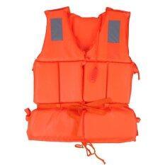 ซื้อ เสื้อชูชีพสำหรับผู้ใหญ่ ใส่ขึ้นเรือ ว่ายน้ำ ทะเลกลางแจ้ง พร้อมนกหวีด สีส้ม ออนไลน์ สมุทรปราการ