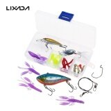 ราคา Lixada 26Pcs Fishing Lures Baits Vib Spinnerbaits Popper Soft Baits Fishing Hooks Topwater Lures Tackle Box Fishing Gear Lures Kit Set Intl ถูก