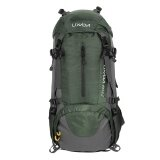 Lixada 50L Water Resistant Outdoor Sport Hiking Camping Travel Backpack Pack Mountaineering Climbing Backpacking Trekking Bag Knapsack With Rain Cover Intl เป็นต้นฉบับ