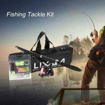 Lixada Professional Fishing Tackle Kit Portable Lure Rod Reel Set with 1.6m Fishing Rod Fishing