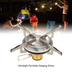 Lixada Ultralight Portable Outdoor Camping Gas Stove Hiking Backpacking Picnic Cooking Stove 3500W Intl เป็นต้นฉบับ