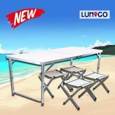 ขาย ซื้อ Lumigo โต๊ะปิคนิคพับได้อลูมิเนียม 120X60 Cm โต๊ะปิคนิค โต๊ะพกพา โต๊ะอลูมิเนียม โต๊ะอเนกประสงค์พกพา พร้อมเก้าอี้พับได้ 4 ตัว ใน กรุงเทพมหานคร