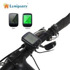 Lumiparty ไร้สาย/แบบมีสายจักรยานกันน้ำ Compute จักรยาน Lcd Backlight มาตรวัดระยะจักรยาน Speedomet จักรยานคอมพิวเตอร์ Bicicleta - Intl.
