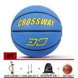ซื้อ ลูกบาสเกตบอล บาสเกตบอลราคาถูก Crossway เบอร์ 7 สีฟ้า Basketball Crossway No 7 Blue