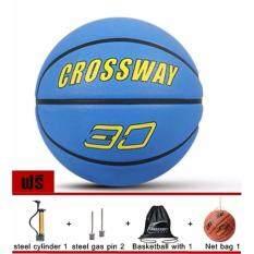 ขาย ลูกบาสเกตบอล บาสเกตบอลราคาถูก Crossway เบอร์ 7 สีฟ้า Basketball Crossway No 7 Blue ใหม่