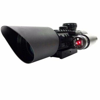 กล้องติดปืน M9 RIFLE SCOPE WITH LASER SIGHT 3-10*42OE