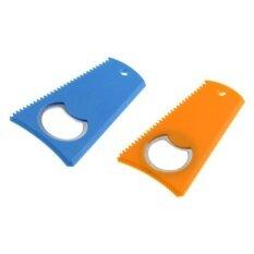 ขาย ซื้อ Magideal 2 Pieces Surfing Surfboard Wax Comb Wax Scraper Remover With Bottle Opener Intl จีน