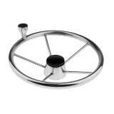 ราคา Magideal 34Cm Dia 5 Spoke 316 Stainless Steel Marine Boat Steering Wheel With Knob Intl