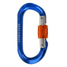 ขาย ซื้อ Magideal Mountaineering Rock Climbing Equipment O Shape Scr*w Lock Carabiner 24Kn Intl ใน จีน