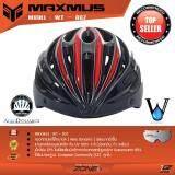 ขาย Maxmus หมวกจักรยาน แว่นตาคลิปออนแม่เหล็ก 3สี กันUv 100 รุ่น Wt 007 สีดำ แดง ไทย