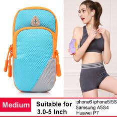 โปรโมชั่น กระเป๋าโทรศัพท์กลางแจ้งกรณีถือกระเป๋าแขนข้อมือ Medium Blue Intl