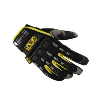 ผู้ชายสวมถุงมือเอ็ม-Pact ยุทธวิธีทางทหารกองทัพรถจักรยานจักรยานยิงถุงมือสีเหลือง-นานาชาติ