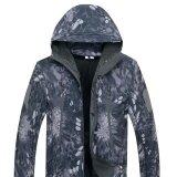 ซื้อ Men Softshell Military Tactical Hoodie Fleece Jacket Outdoor Camping Hiking Pants Set Color Ash Black Size L Intl