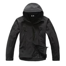 ราคา Men Teen Outdoor Sport Shooting Hooded Coat Waterproof Long Sleeve Tops Warm Jacket Color Black Size L Intl เป็นต้นฉบับ