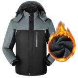 ขาย ซื้อ Men S Winter Waterproof Softshell Jacket Outdoor Sport Warm Inner Fleece Coat Hiking Camping Skiing Unisex Clothes Color Black Size L Intl