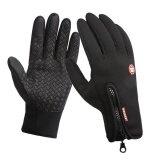 ทบทวน ที่สุด Mens Unisex Warm Waterproof Fleece Gloves Cycling Outdoors No Slip Outdoor Ski Gloves Black Xl Intl