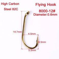 ขาย Mermaidknight 200Pc Fly Fishing Hook 8000 8 12 14 16 เบ็ดตกปลา Fly Hooks ปลาเทราต์ปลาแซลมอนแห้งแมลงปลา Hook Intl Mermaidknight