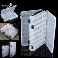 ซื้อ Mermaidknight Fishing Lure กล่องกล่องสองด้าน Spinner เหยื่อ Minnow Popper 14 ช่องตกปลากล่อง ใหม่ล่าสุด